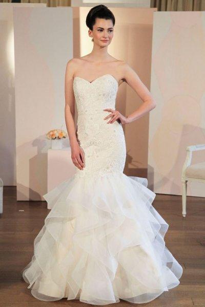 la robe de mariée avec un design de sirène