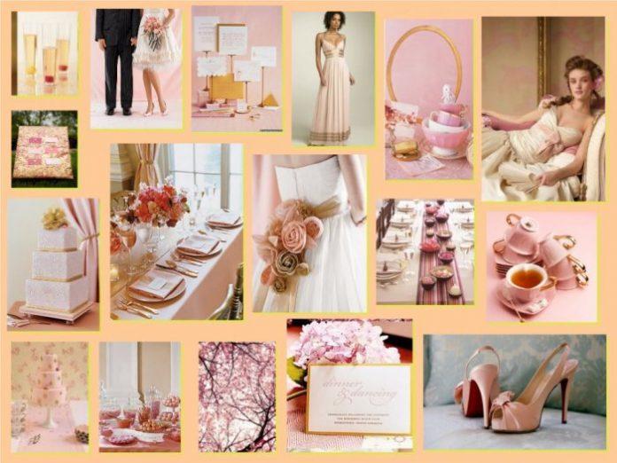 Mariage avec la couleur rose