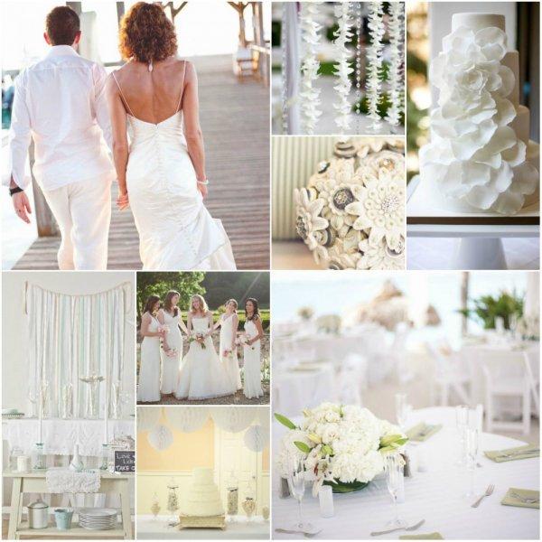 Mariage avec la couleur blanc