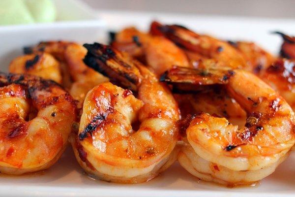 Recette crevettes grillées avec poivre rouge